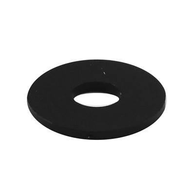 Flexible black plastic washer 8 x 25 x 2