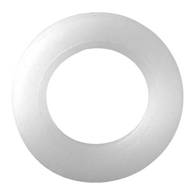 White plastic washer 6 x 18 x 1,5 m