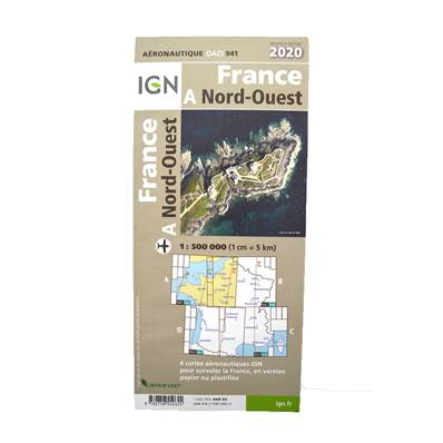 Map ICAO North West laminated