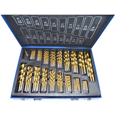 Set of 170 titanium coating drills